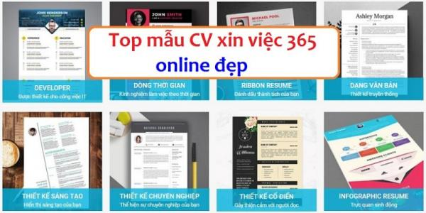 Tạo và tải CV miễn phí tại Timviec365.vn